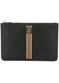 Fendi logo stripe detail clutch