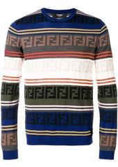 Fendi logo stripe sweater