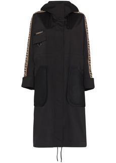 Fendi logo tape parka coat