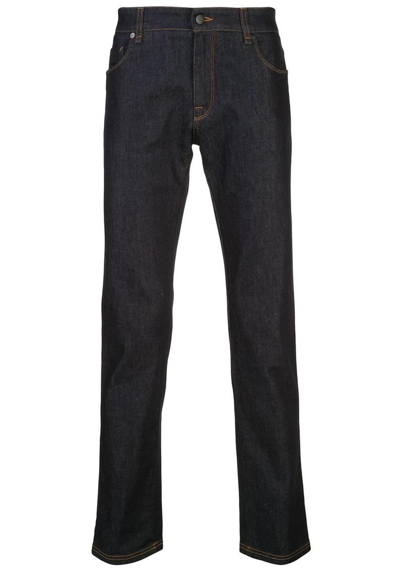 Fendi logo tape straight leg jeans