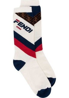 Fendi logo terry socks