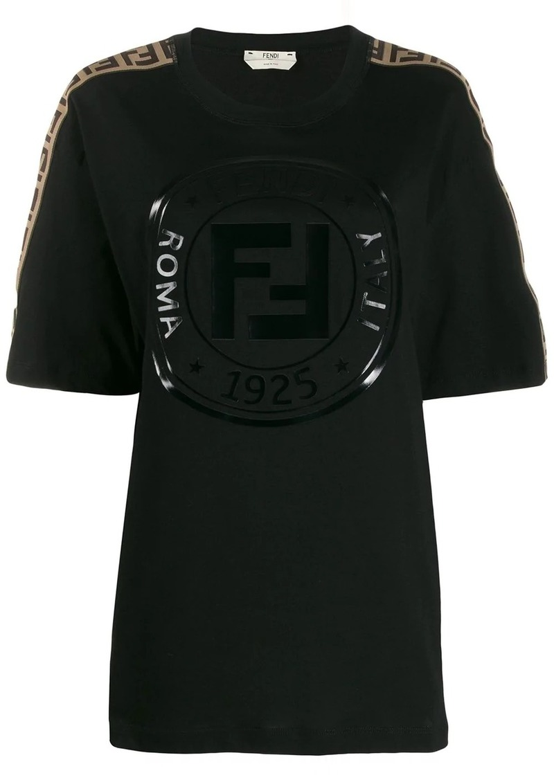 Fendi logo-trimmed T-shirt