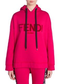 Fendi Logo Velvet Hoodie