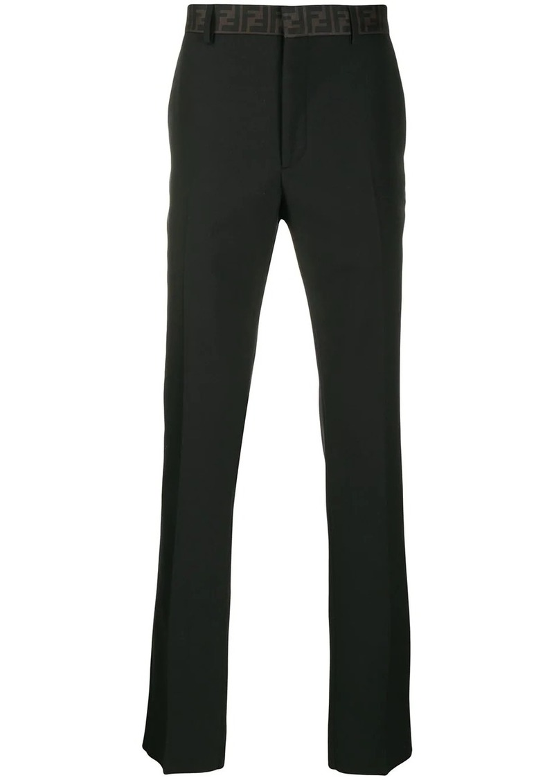 Fendi logo waistband tailored trousers
