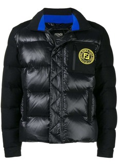 Fendi logo zipped padded jacket