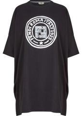 Fendi long logo-print T-shirt