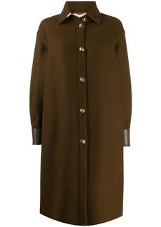 Fendi long shirt cut coat