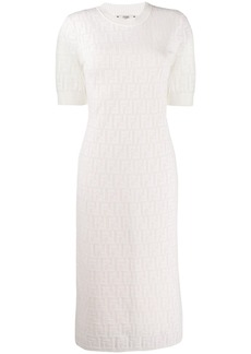 Fendi loungette logo pattern dress