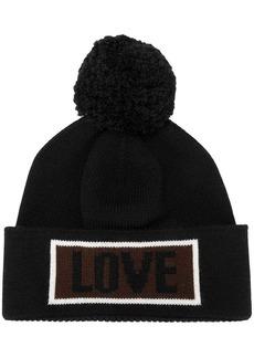 Fendi Love slogan beanie hat