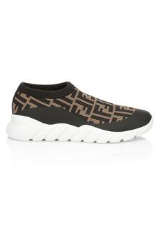 Fendi Low-Top FF Sock Sneakers