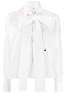 Fendi maxi bow taffeta blouse