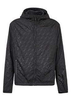 Men's Fendi Ff Logo Packable Hooded Jacket