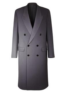 Men's Fendi Graduated Print Double Breasted Wool Coat