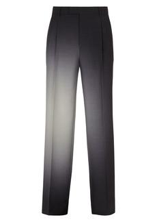 Men's Fendi Graduated Print Front Pleat Trousers
