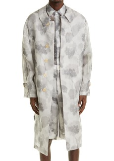 Men's Fendi Hortensia Floral Silk Trench Coat