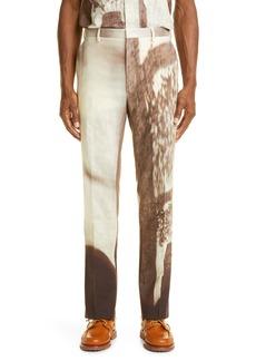 Men's Fendi Shady Window Slim Fit Cotton Trousers