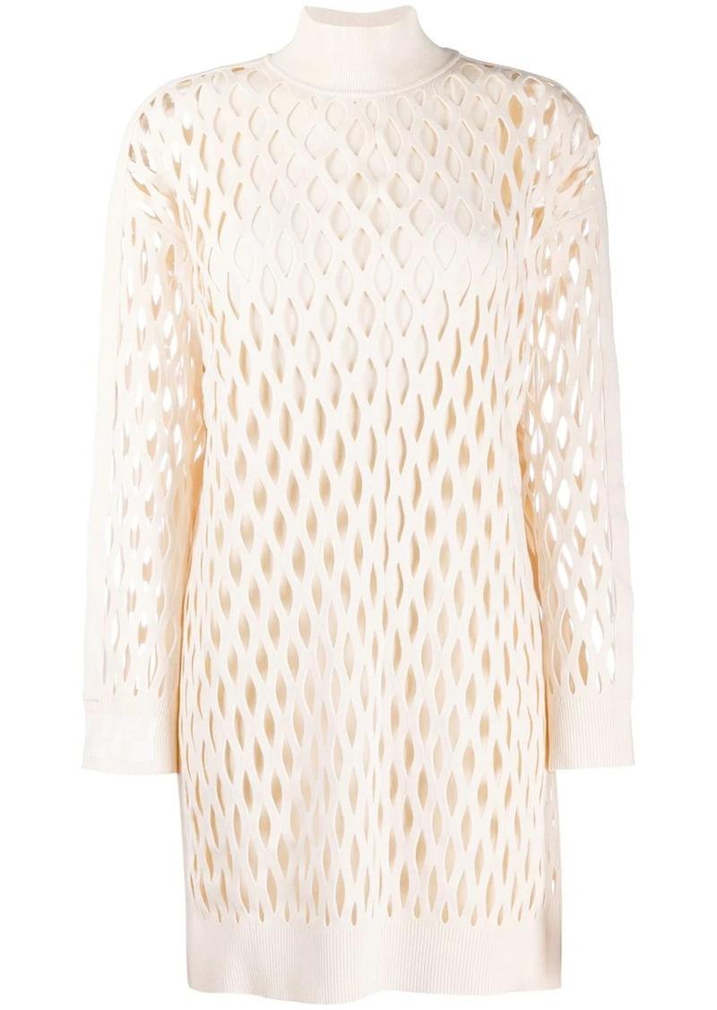 Fendi mesh knitted dress