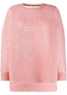 Fendi mesh logo sweatshirt