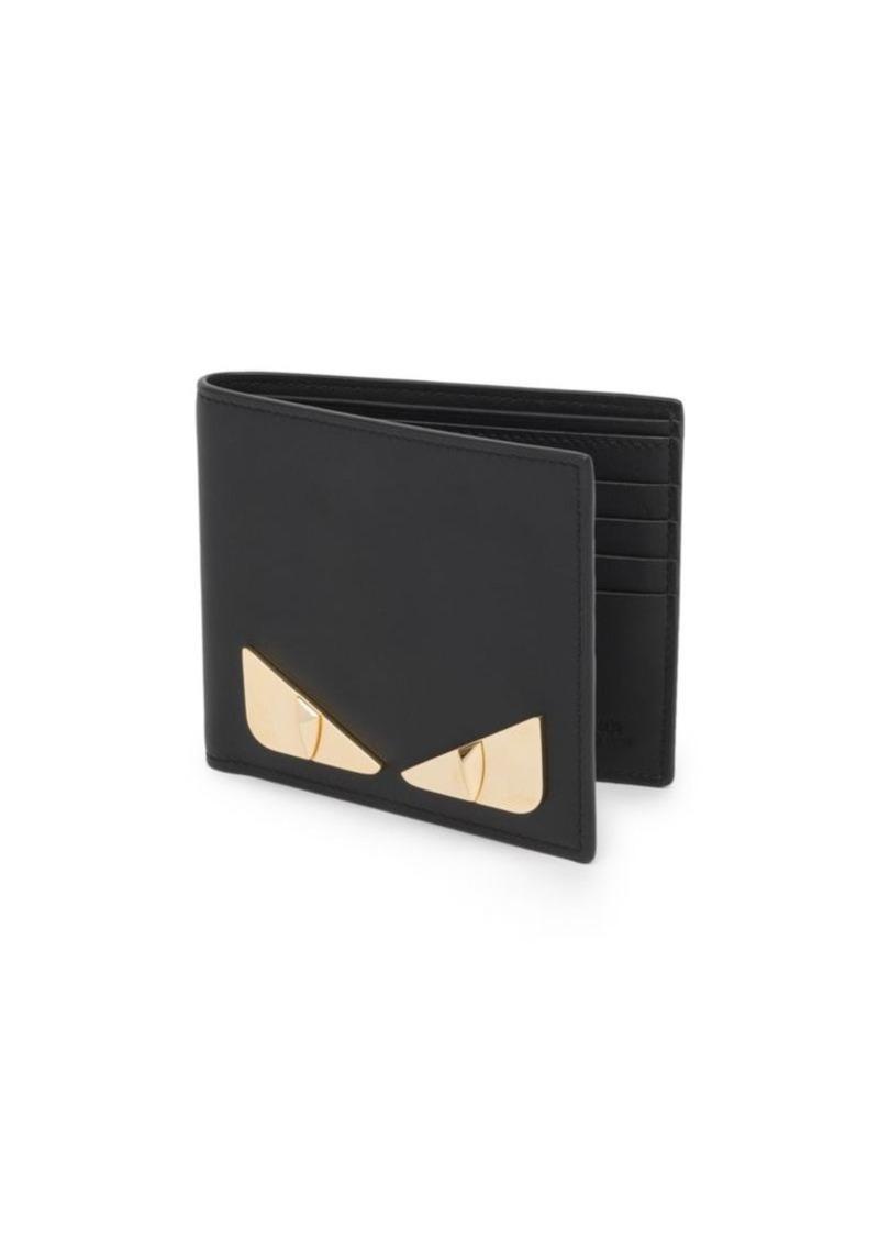 Fendi Metal Bugs Leather Billfold Wallet