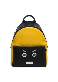 Fendi Metal Face Leather Backpack