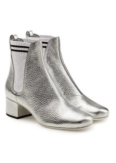 Fendi Metallic Leather Ankle Boots