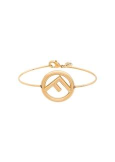 Fendi metallic logo bracelet