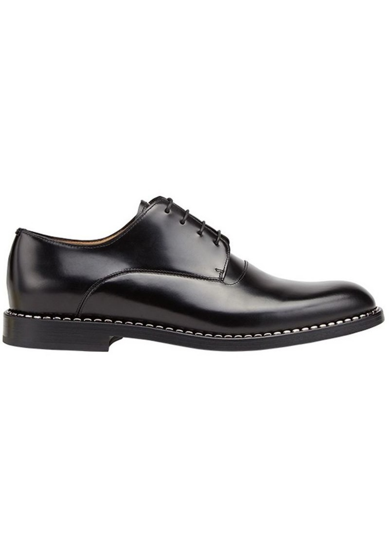Fendi metallic trim oxford shoes
