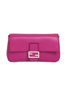Fendi Micro Baguette Nappa Leather Bag