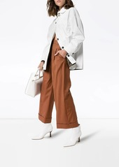 Fendi micro-houndstooth cropped trousers