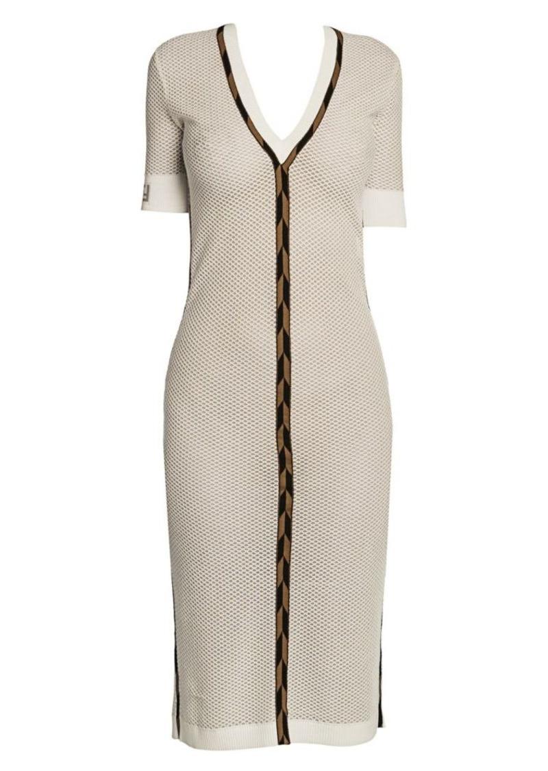 Fendi Micro Mesh Knit Midi Dress