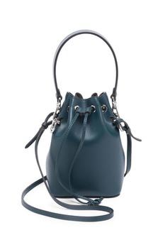 Fendi Micro Mon Tresor Leather Bucket Bag