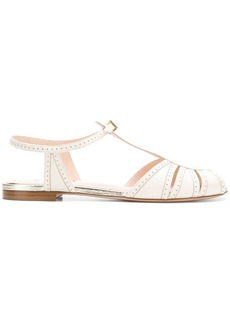 Fendi micro perforated sandals