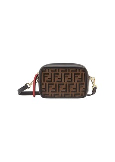0c981c4a5a Fendi Fendi Kan I small flower-appliqué leather cross-body bag ...
