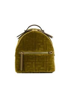 Fendi mini FF velvet backpack