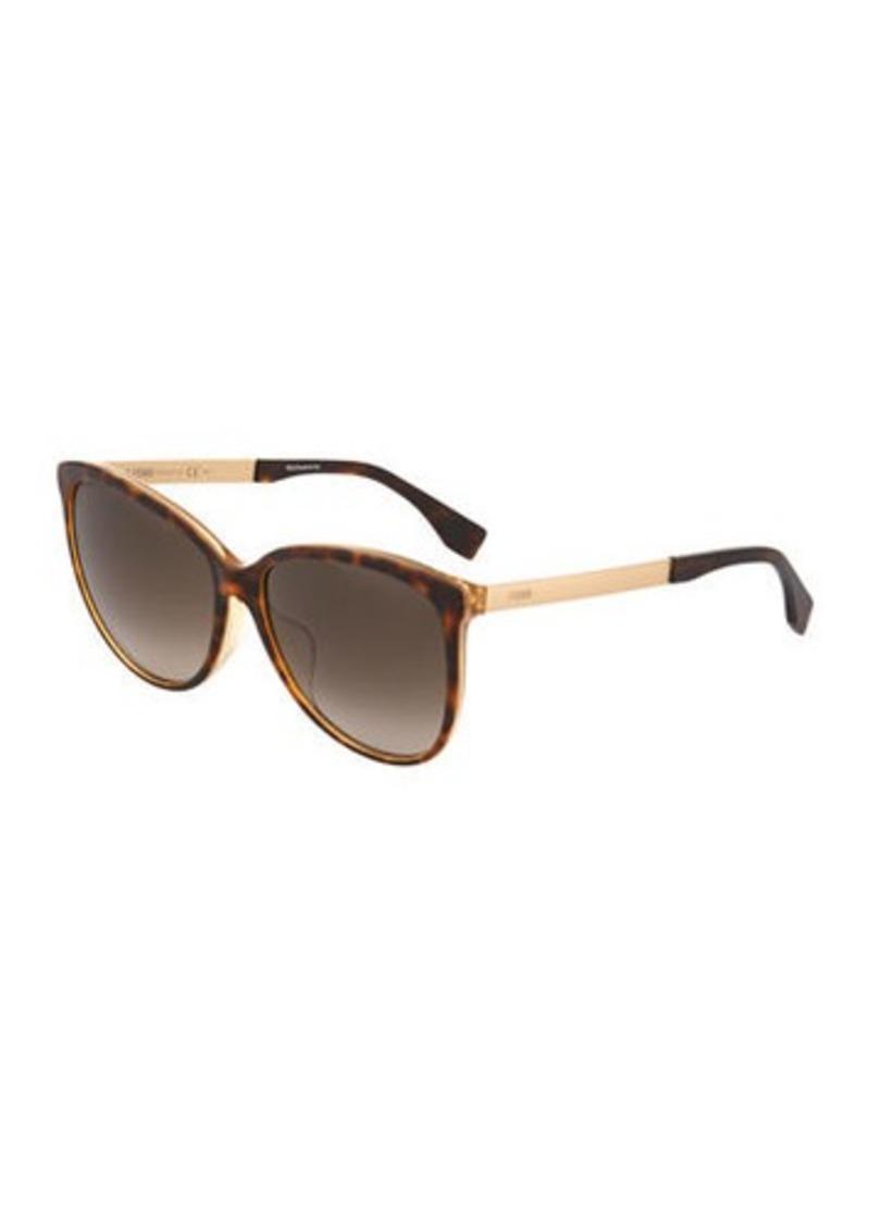 34b074ceeb Fendi Modified Oval Plastic Sunglasses