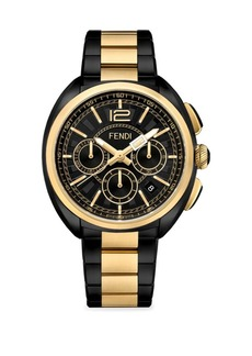 Momento Fendi Two-Tone Stainless Steel Chronograph Bracelet Watch
