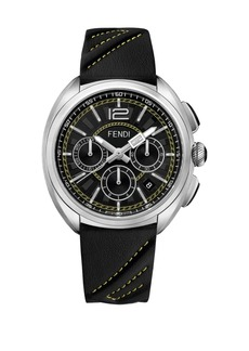 Fendi Momento Leather Chronograph Watch