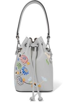 Fendi Mon Trésor Small Embroidered Leather Bucket Bag