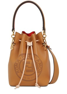 Fendi Mon Tresor Logo Laser Cut Leather Bag