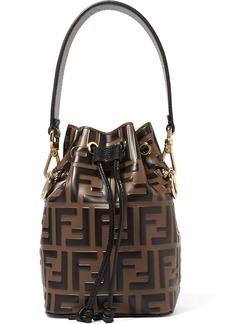Fendi Mon Trésor Mini Embossed Leather Bucket Bag