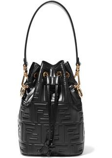 Fendi Mon Trésor Small Embossed Leather Bucket Bag