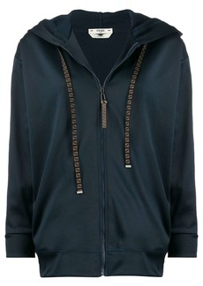 Fendi monogram detail zip-up jacket