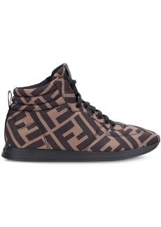 Fendi monogram high-top sneakers