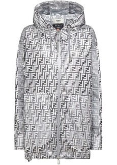 Fendi Prints On metallic raincoat