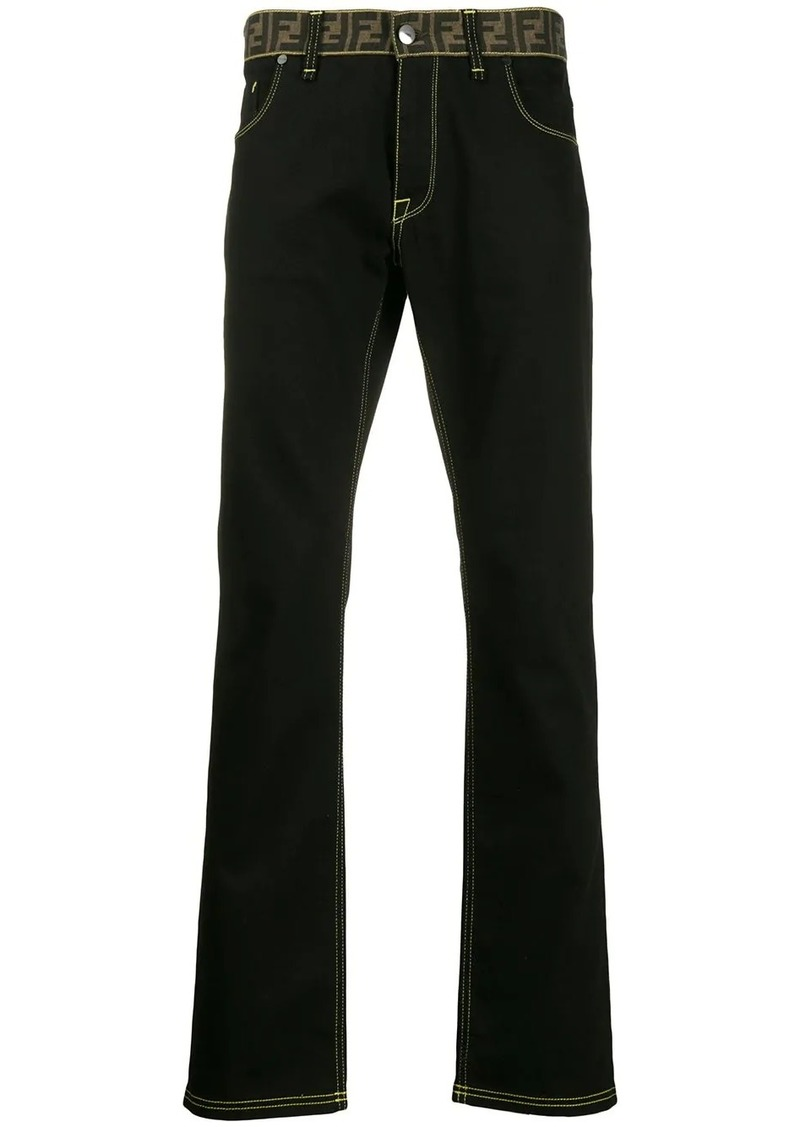 Fendi monogram waistband jeans