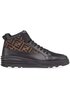 Fendi monogrammed jacquard high-top sneakers