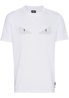 Fendi Monster Eyes applique t shirt