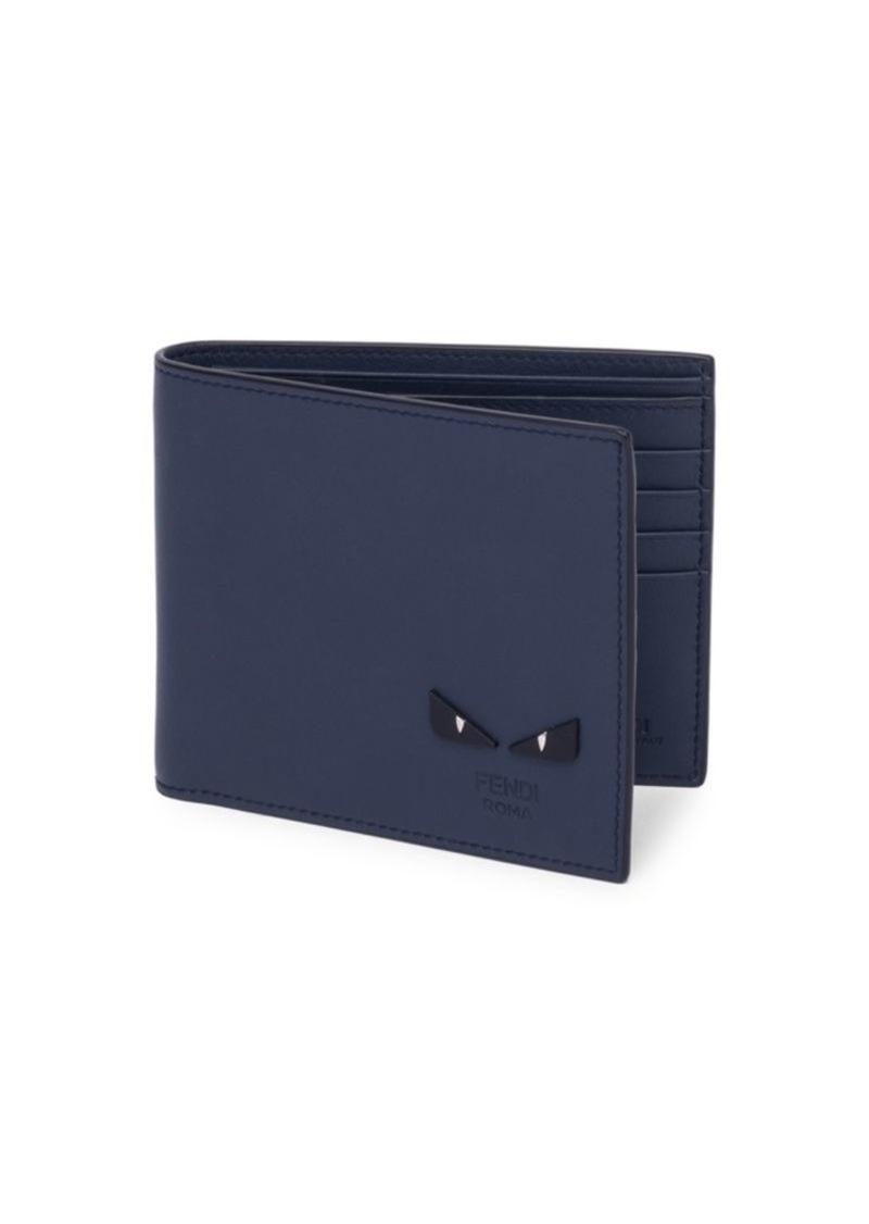 1b8835e9c00 Fendi Monster Eyes Leather Billfold Wallet | Misc Accessories