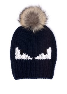 Fendi Monster Fur-Pom Wool Hat