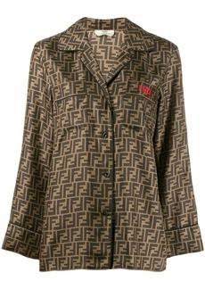 Fendi motif pattern shirt